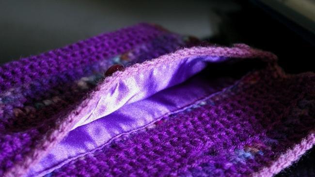 couture doublure pochette au crochet