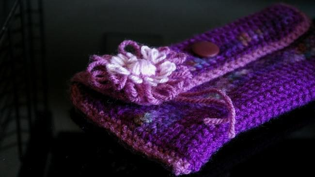fleur en laine crochet