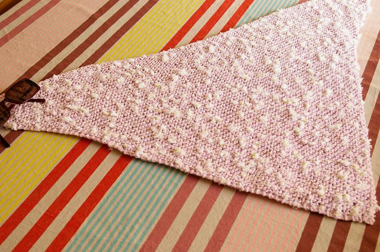 tricot chèche à plat