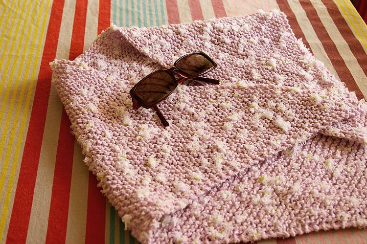 chèche rose tricot