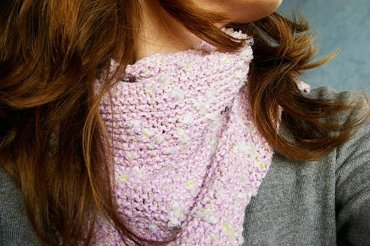 tricot chèche autour du cou
