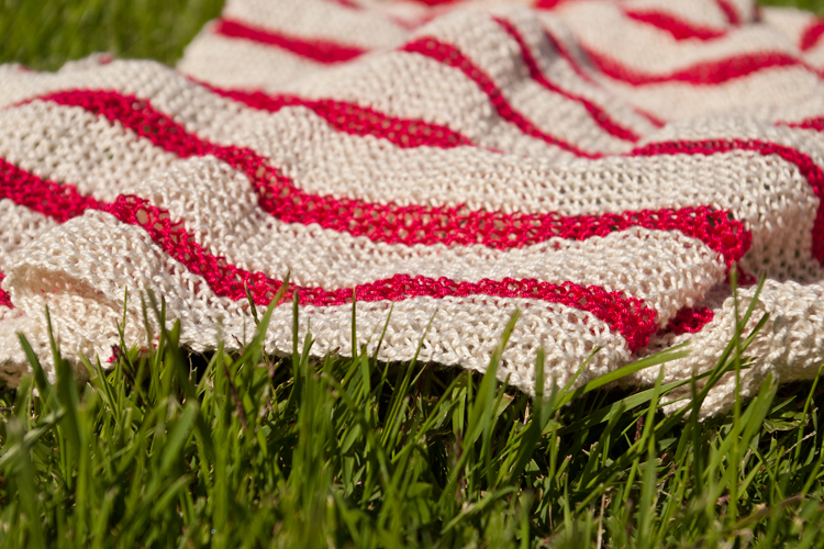 écharpe marinière à rayures en coton