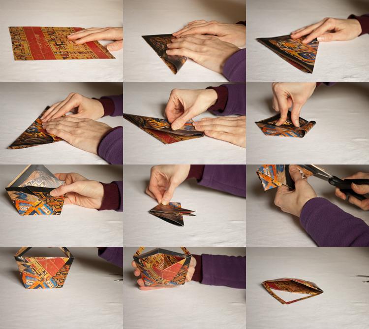 paniers en origamis - DIY