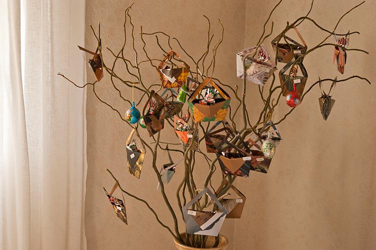 arbre calendrier de l'avent - DIY pour Noël