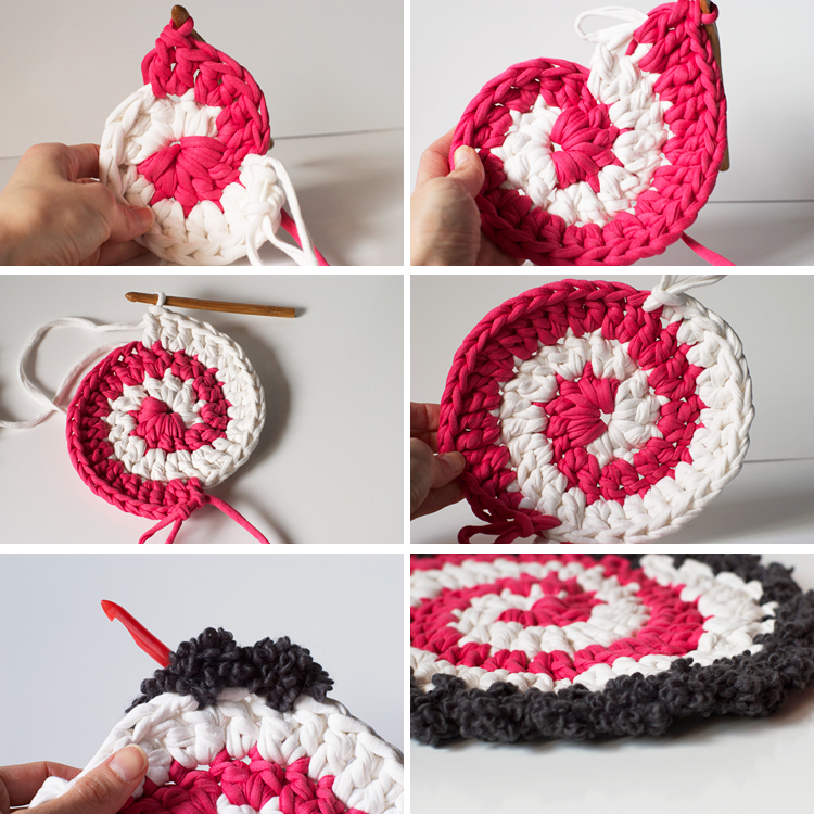 tuto spirale crochet trapilho