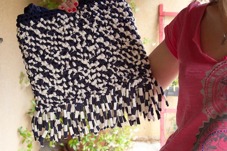 Crocheter un tote bag en trapilho + tuto