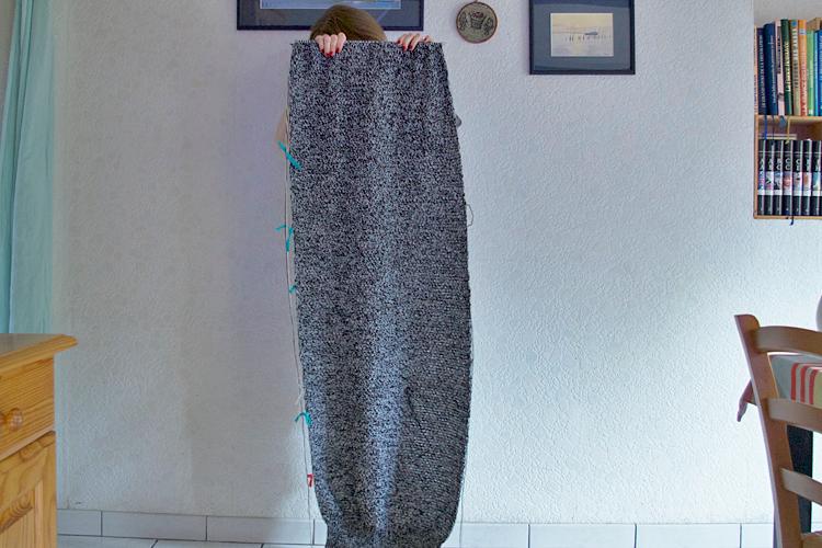 longueur du tricot au point de blé