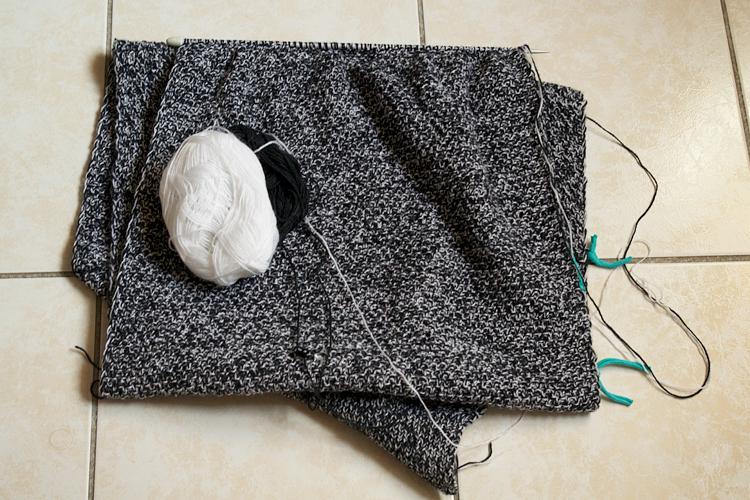 en cours tricot chiné