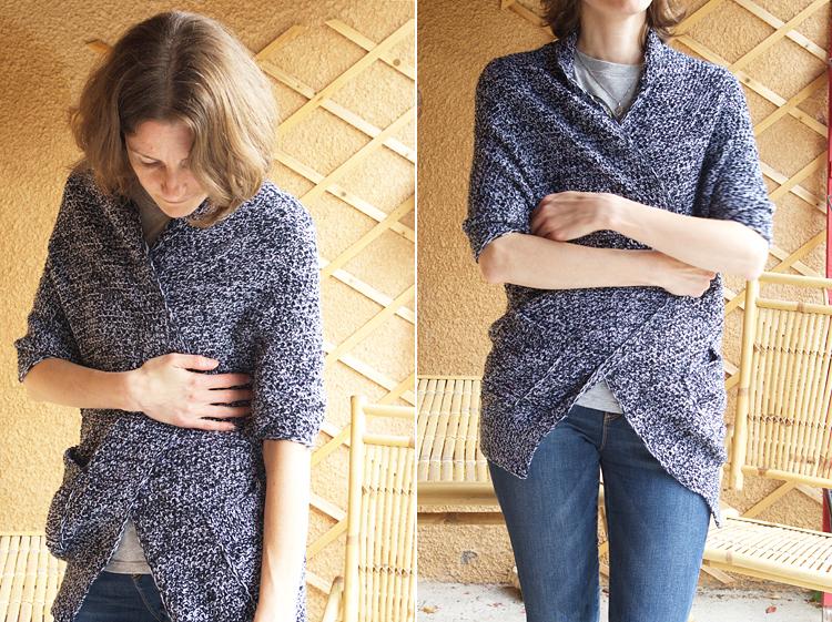 Un gilet chiné au tricot pour l'automne #kalblé