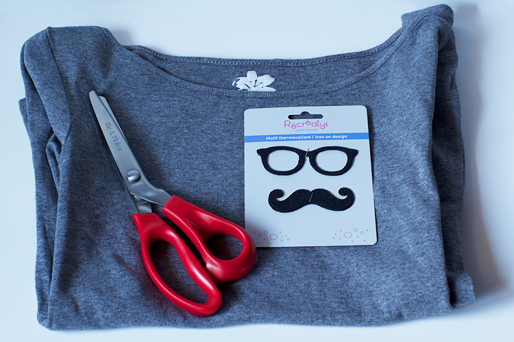 Couture facile : le tee-shirt moustache