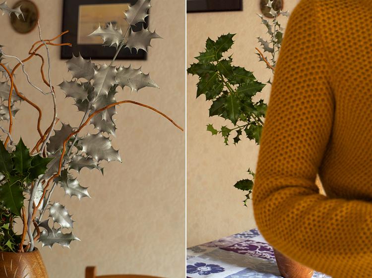 Bouquet de houx pour Noël
