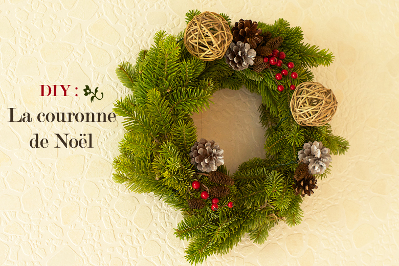 Diy la couronne de no l naturelle apodioxe - Decoration couronne de noel ...