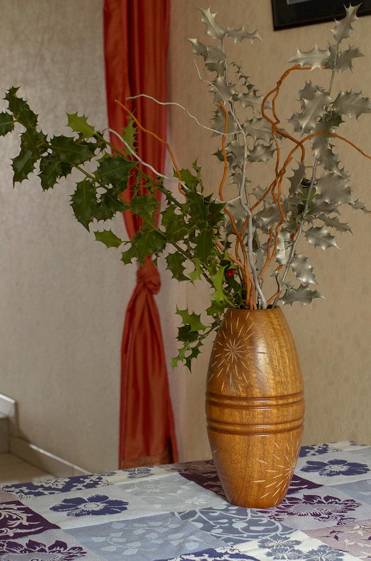 décoration de noël bouquet de houx