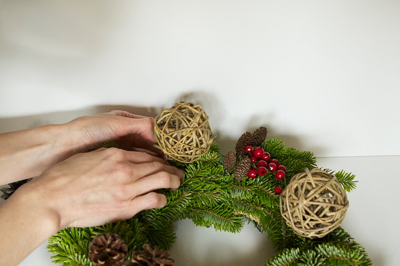 DIY de la couronne de Noël