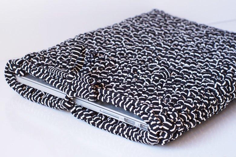 housse pour ordinateur portable crochet