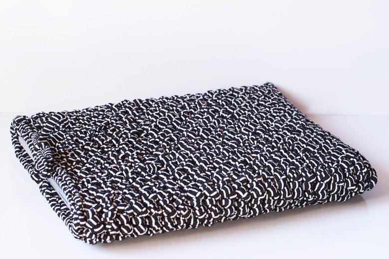 housse ordi portable crochet