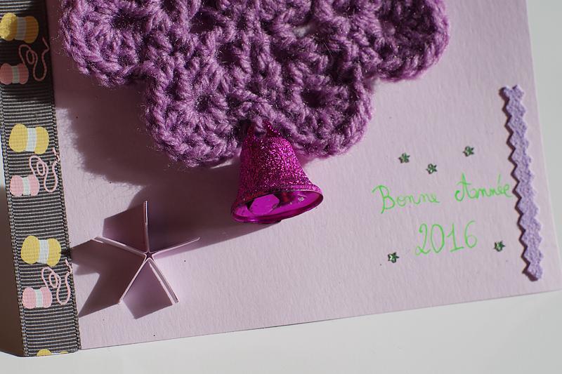 carte de voeux crochet quilling