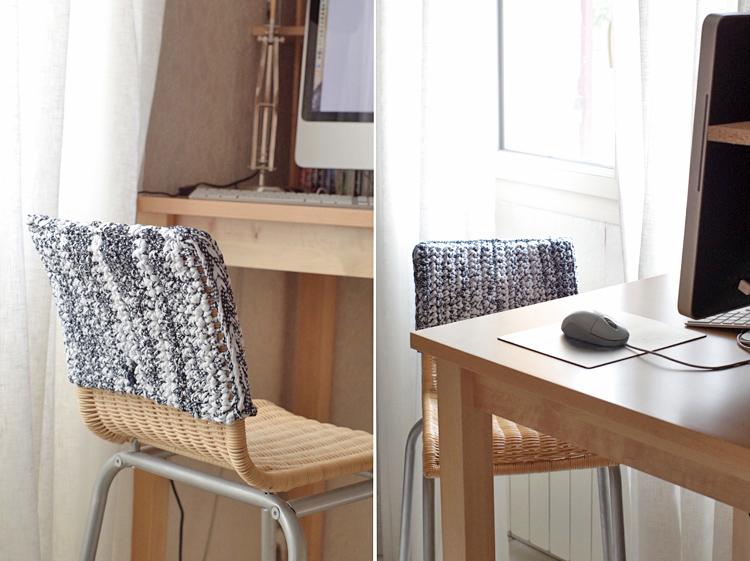 du crochet pour habiller sa chaise de bureau