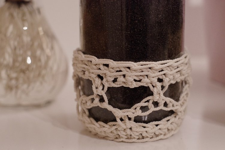 bocal en verre habillage crochet