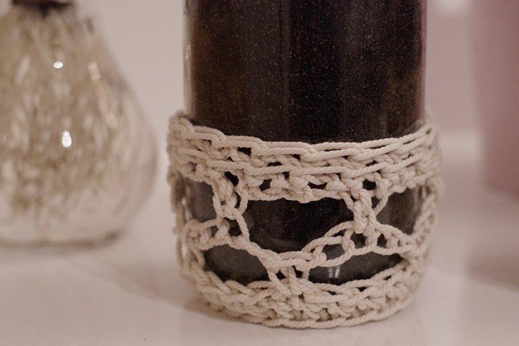 bocal en verre habillage crochet