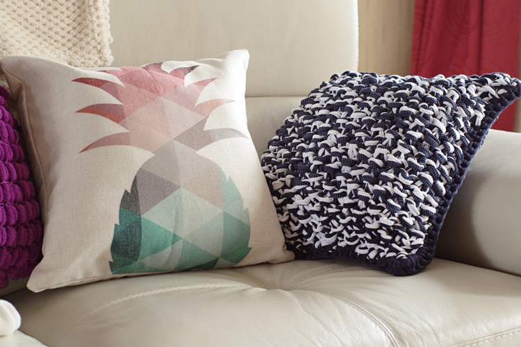 tricot coussin trapilho