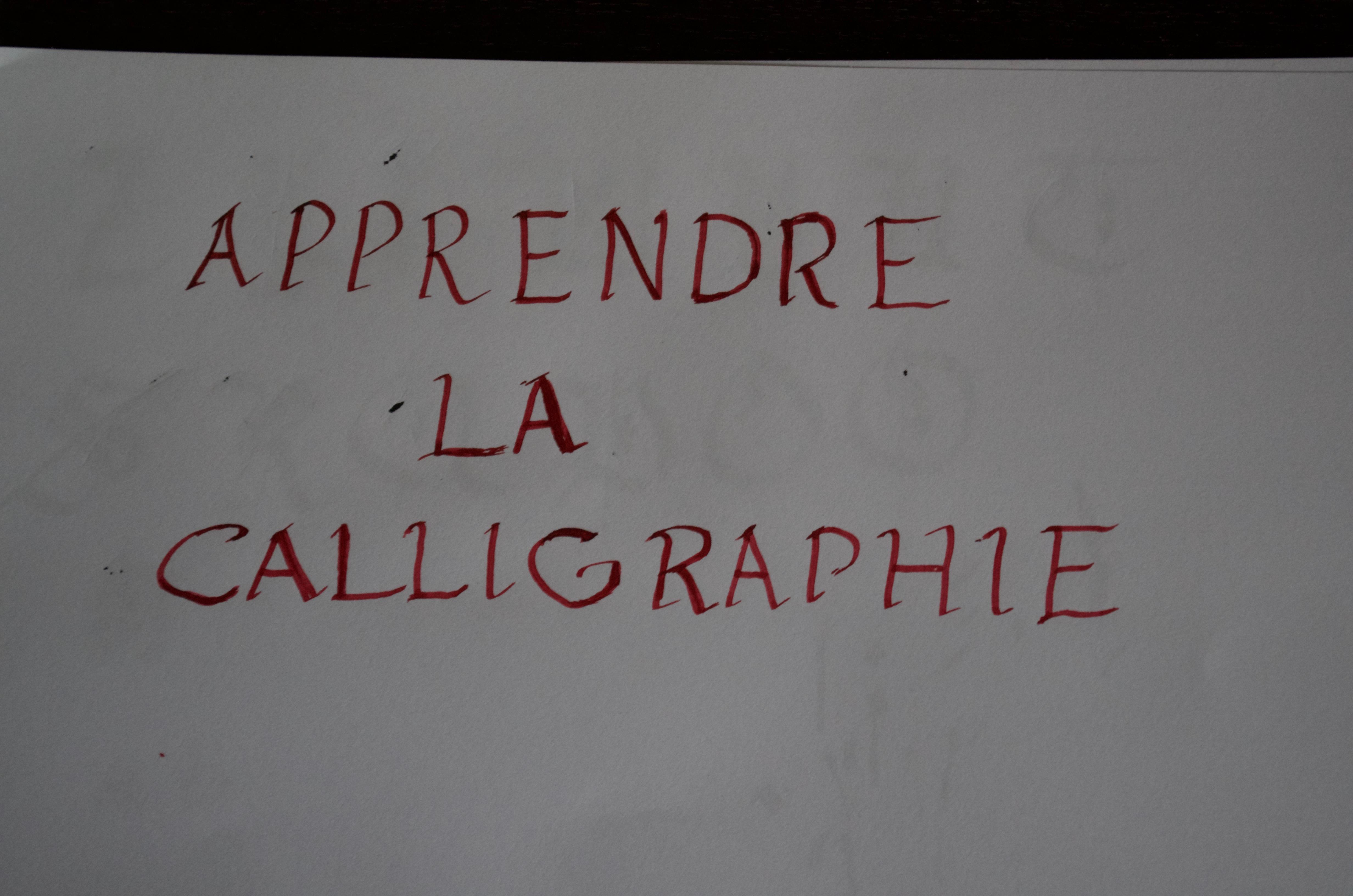 apprendre écriture calligraphie