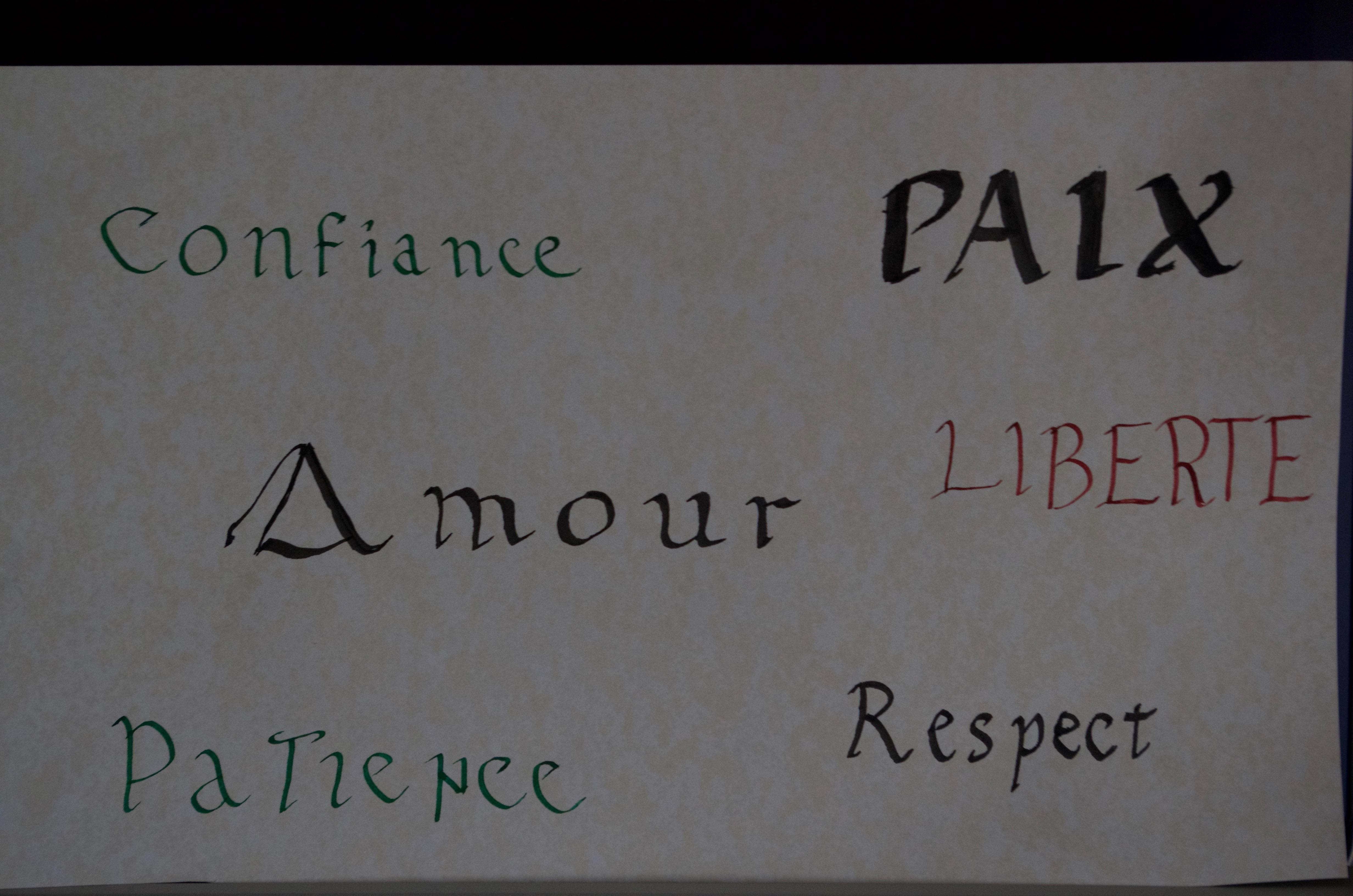 apprendre la calligraphie