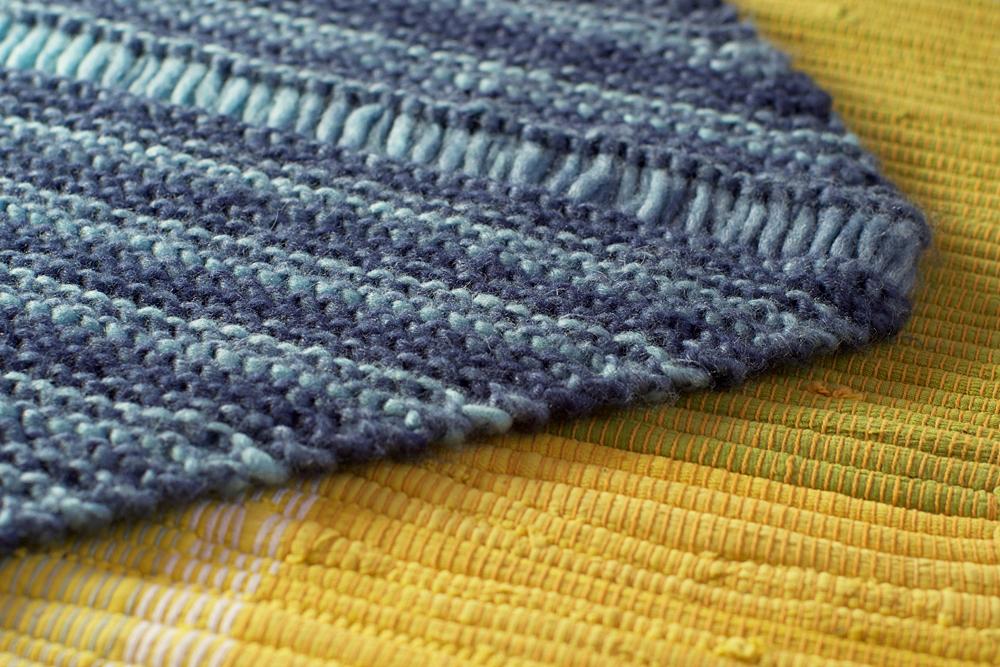 point mousse tricot chale