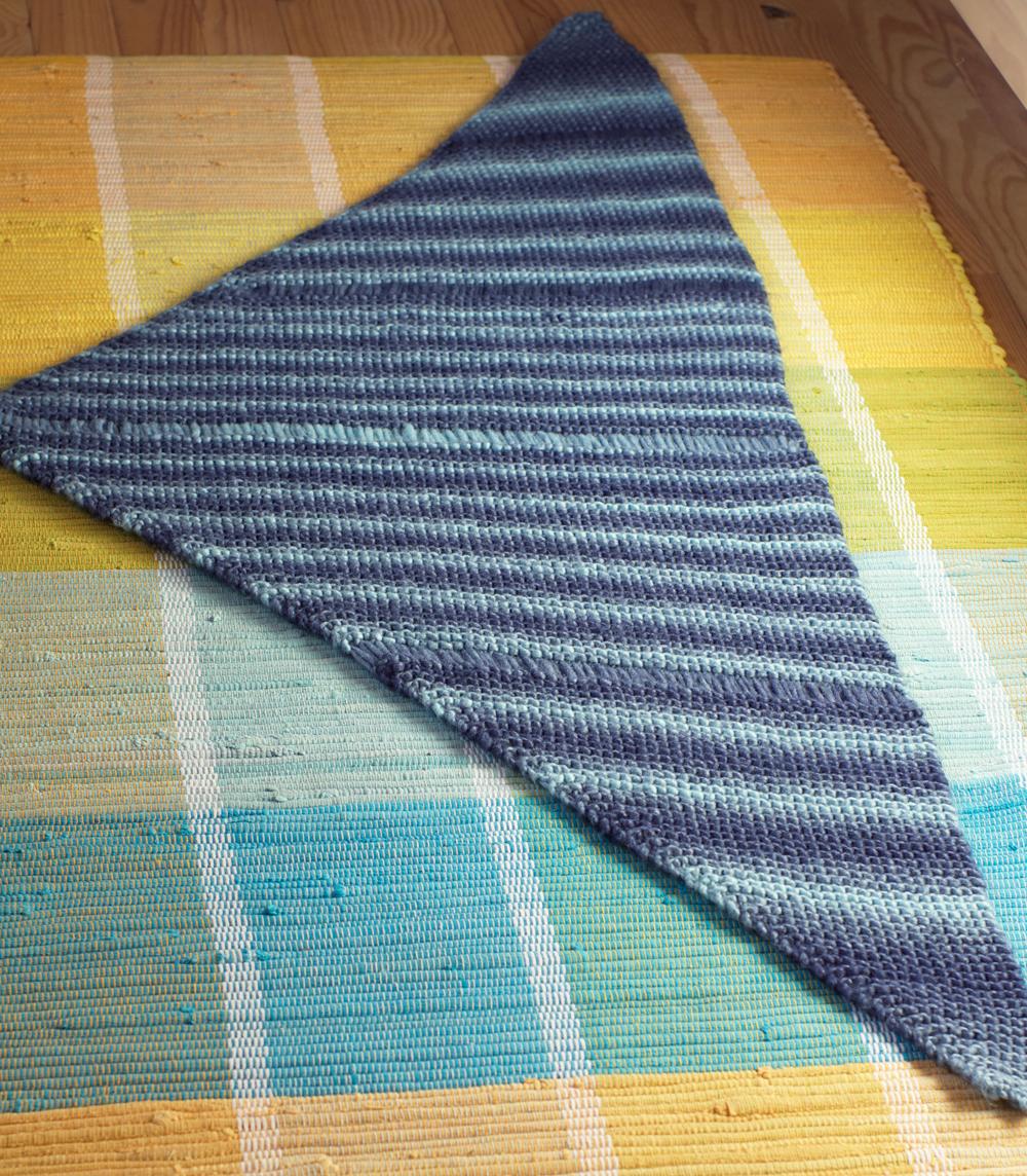 blocage chale asymetrique tricot