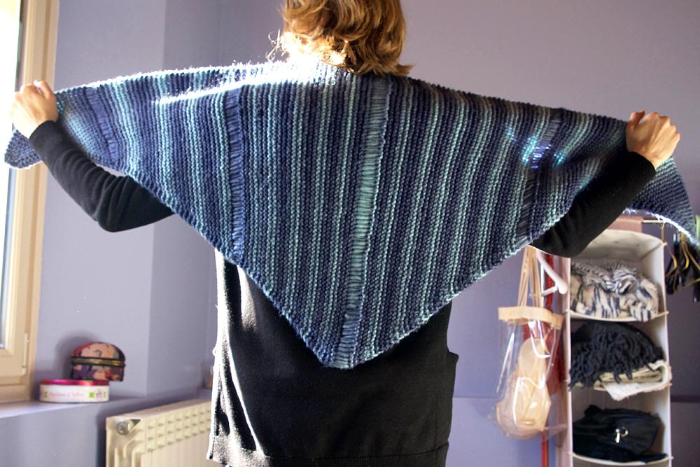 chale asymetrique tricot